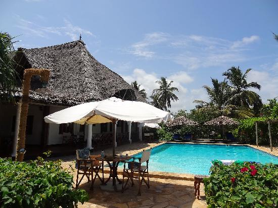 Zanzibar Retreat Hotel: their pool- we stayed at the pool side all afternoon with beer and calamari fries....can we go b