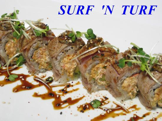 surf and turf exclusive roll picture of tokyo bay restaurant sushi st petersburg tripadvisor. Black Bedroom Furniture Sets. Home Design Ideas