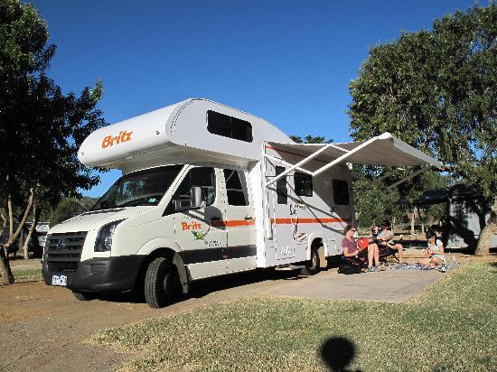 BIG4 MacDonnell Range Holiday Park : Our campervan site