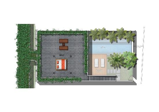 Bali Island Villas & Spa: Villa lay out 2nd floor