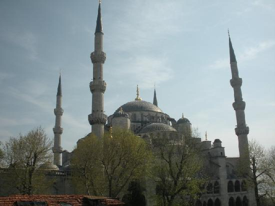 Hotel Sultan Hill: Blue Mosque from the hotel rooftop
