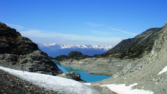 Wedgemount Lake from Wedgemount Glacier