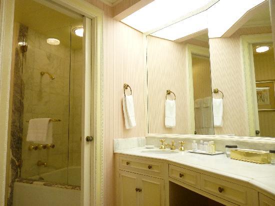 The Westgate Hotel: large and elegant marbled washroom