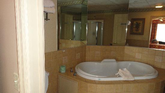 Split Rock Resort: Bathroom with Jacuzzi