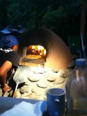 The Clay Oven: The oven in action
