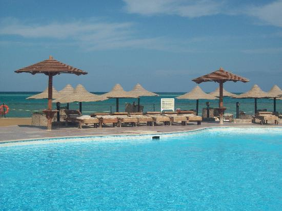 Festival Riviera: one of the pool areas by the beach
