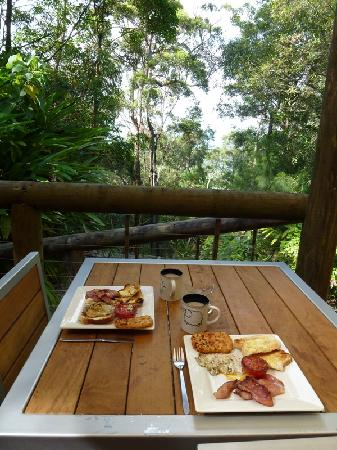 Wychwood Forest Escape: Breakfast on the deck