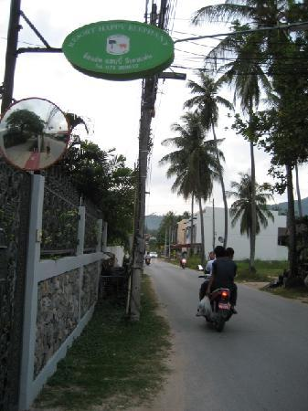 The Happy Elephant Resort: front gate entrance