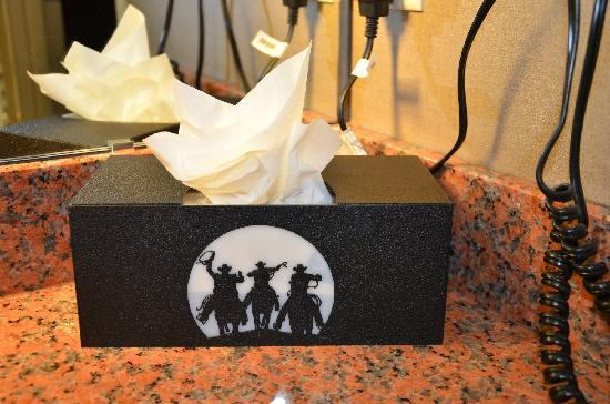 Holiday Inn Amarillo West Medical Center: Even the tissue box was a fun western touch