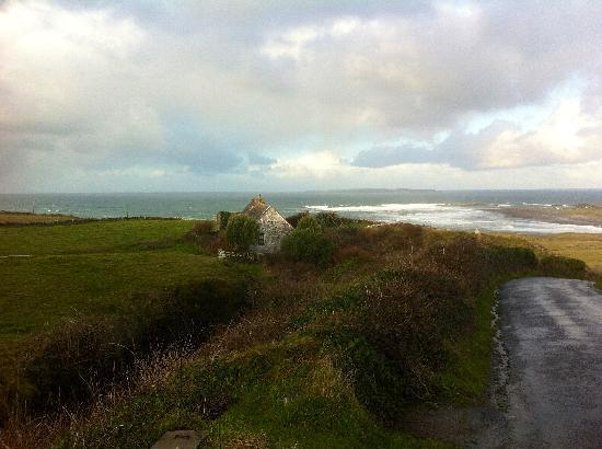 Gentian Cottage: View back toward Doolin from the road leading to the Cliffs of Moher