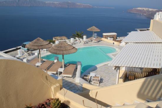 Santorini Princess: A view over the pool