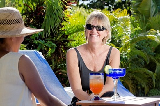 Almond Tree Restaurant and The Turtle Bar : Owner enjoying a drink outside