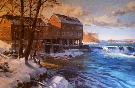 The Grist Mill and One Up Bar: Painting Of The Grist Mill That Hangs In The Restaurant