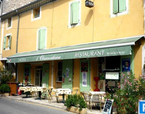 Hotel Restaurant l'Observatoire : La facade