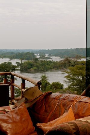 Murchison Falls National Park, Oeganda: View from the Reception at Chobe Lodge Uganda
