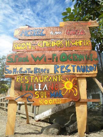 Nosara Playa Garza Hotel: how to find us