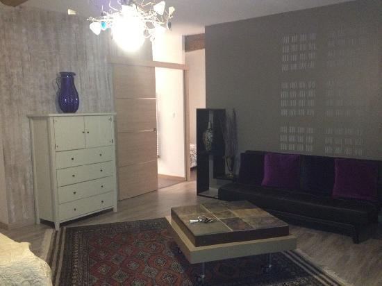 Le Domaine du Vernay : salon chambre Zen