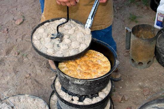 Reno Rodeo Cattle Drive: Dutch Oven Biscuits