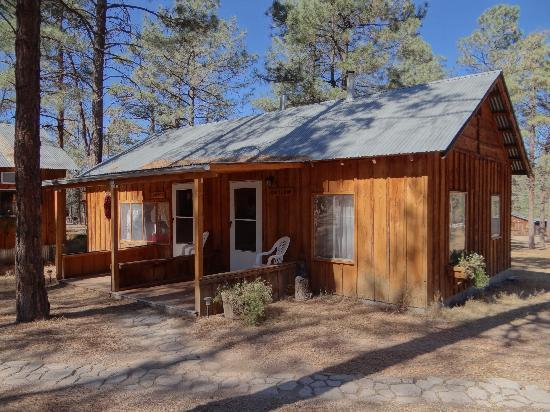 "Geronimo Trail Guest Ranch: The cabin ""Cowboy"" (door on the left) was my beautiful home."