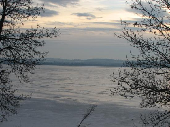 Elmhirst's Resort: View of the Rice Lake from our cottage