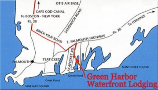 Green Harbor Waterfront Lodging: Map
