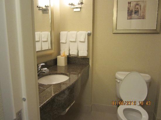 Hilton Garden Inn Richmond Airport: clean bathroom