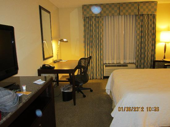 Hilton Garden Inn Richmond Airport : TV & desk