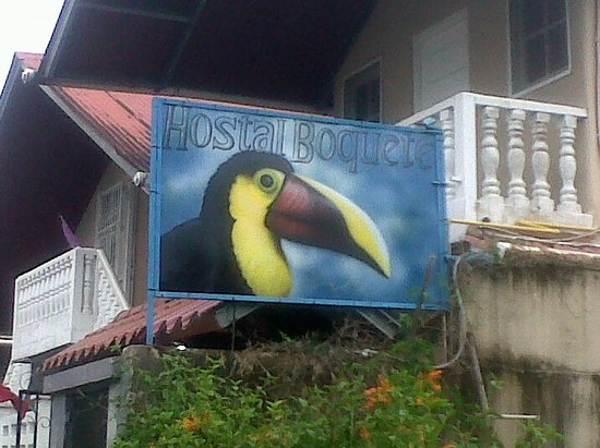 Hostal Boquete: Welcome sign