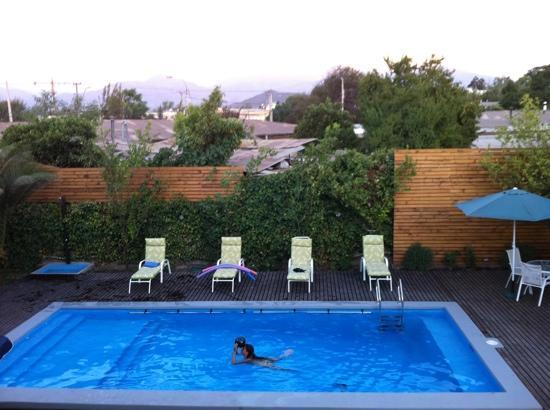 piscina do hotel los andes