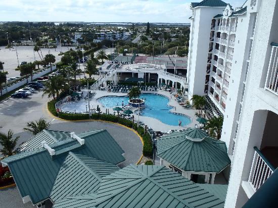 The Resort on Cocoa Beach: view towards pool from 8th floor