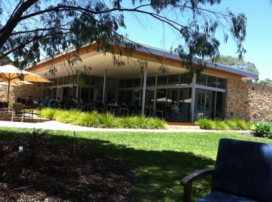 The Studio Gallery & Bistro: looking at the restaurant from a seat in the garden