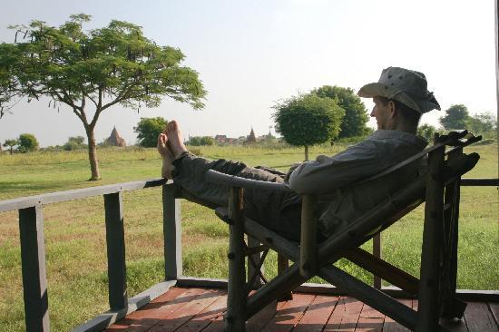 Kumudara Hotel Bagan: back porch on Kumudara villa/cabins.