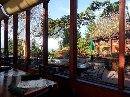 Ragged Point Inn and Resort: View from inside the restaurant