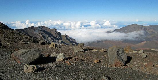 Haleakala Crater: Clouds and shadows