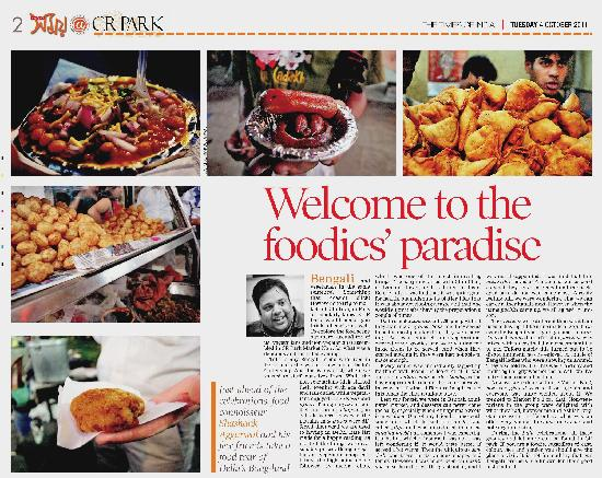 Food Enthusiasts of Delhi (FED): An article in Time of India