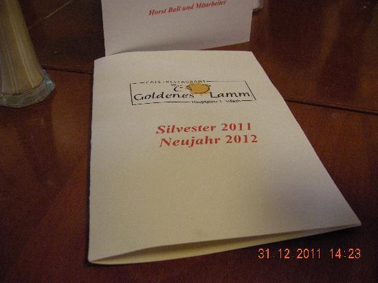 Hotel Goldenes Lamm: Menu in italiano