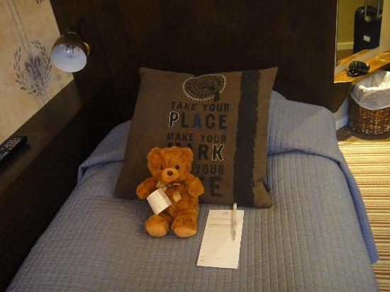 Freys Hotel: greeting teddybear