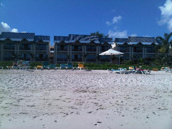 Pearle Beach Resort & Spa: the beach from the sea