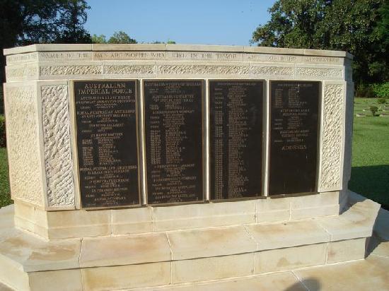 Adelaide River War Cemetery: Names of the fallen