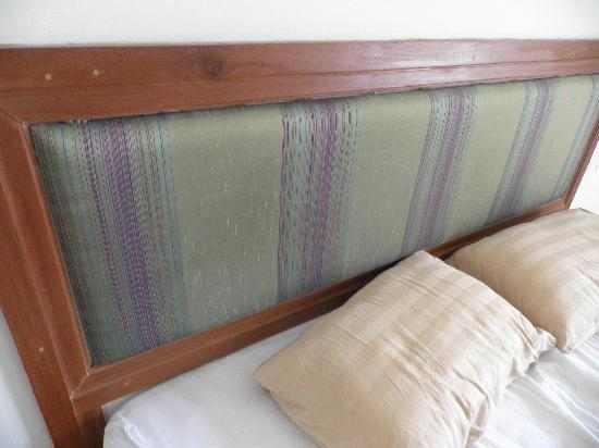 Cambodian Resort: Stained bed headboard
