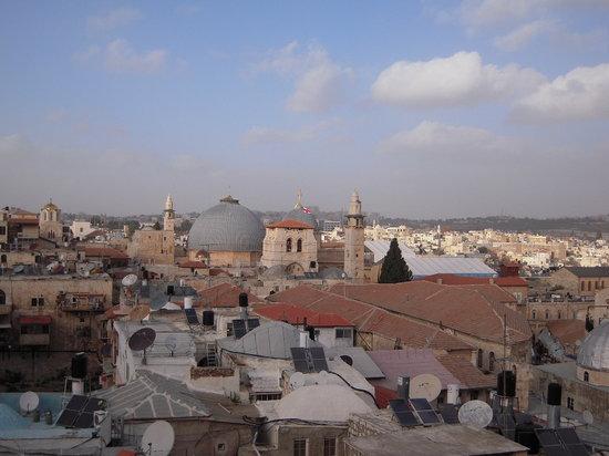 Jaffa Gate Hostel: veduta panoramica dal tetto dell'ostello