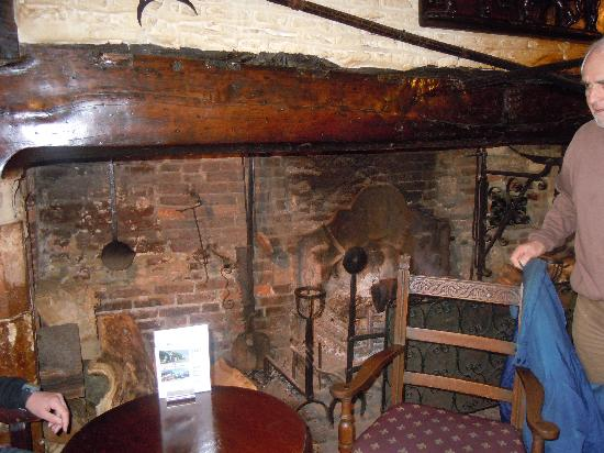 Giants Fireplace Bar at The Mermaid Inn : The old kitchen , which now is the bar.