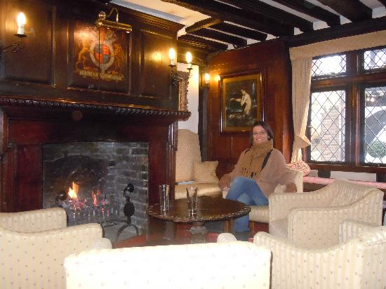 Giants Fireplace Bar at The Mermaid Inn: Guest room . In this photo i noticed an orb , on zooming in on camera i can see an image infront