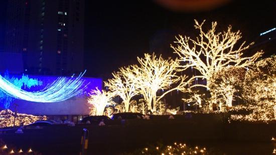 Lotte Hotel Seoul: ロッテホテルの玄関前