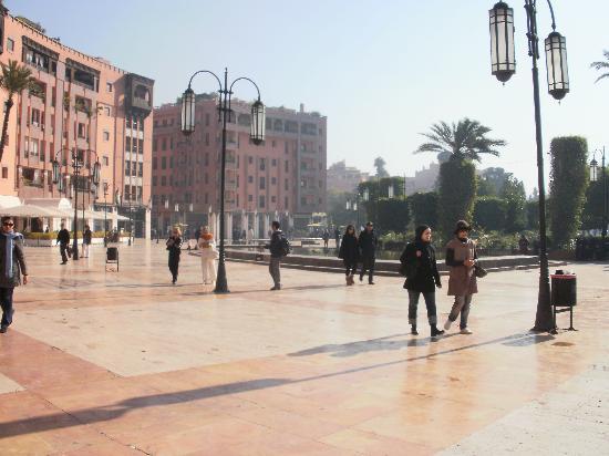 Marrakech, Morocco: La pizza principale della città nuova