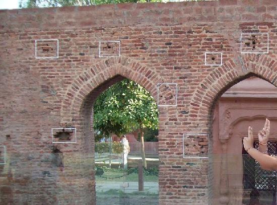 Jallianwala Bagh: Bullet marks on walls