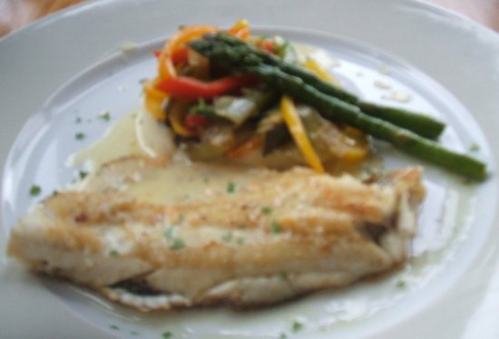 Cafe Viva: Filet of Sole lunch plate