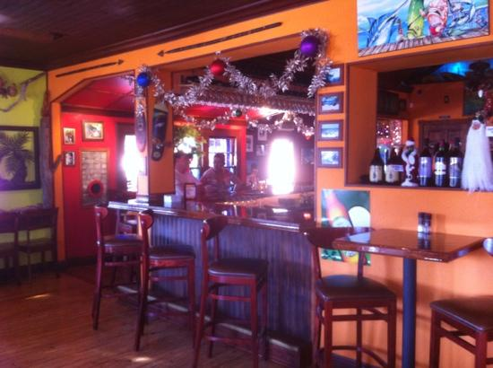 Gnarly Surf Bar and Grill: inside bar area...really cool inside.