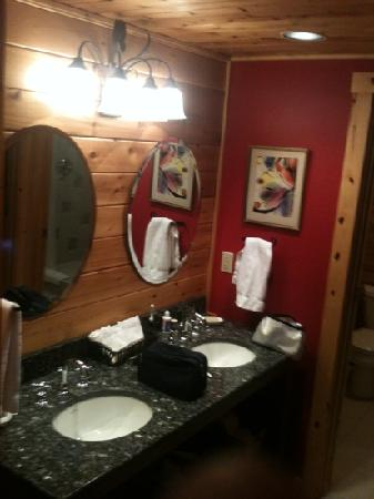 Good Timber Bed and Breakfast : double sink with beautiful granite
