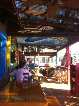 Gnarly Surf Bar and Grill: outdoor seating is really neat. see through roof!